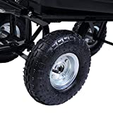 650LB-Garden-Dump-Cart-Dumper-Wagon-Carrier-Wheel-Barrow-Air-Tires-Heavy-Duty-NEW