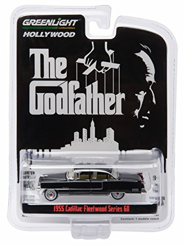 1955 CADILLAC FLEETWOOD SERIES 60 from the classic film THE GODFATHER * GL Hollywood Series 14 * Greenlight Collectibles 1:64 Scale 2016 Die-Cast Vehicle