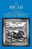 Micah (The Anchor Yale Bible Commentaries)