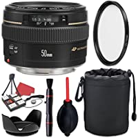 Canon EF 50mm f/1.4 USM Lens + Accessory Bundle