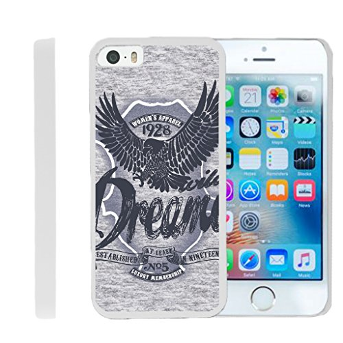 TurtleArmor | Compatible for Apple iPhone SE Case | iPhone 5/5s Case [Slim Duo] Slim Clip On Hard Cover Protector Matte Unique Designs on White - Wild Eagle (Protector Dreamer Design)