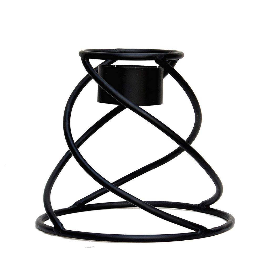 Gaze Ball Holder Small Helix Globe Stand Powder-Coated and Hand-Welded to Ensure Years of Use and Enjoyment Weatherproof; Can Be Used Indoors or Out Stand Is 8'' Tall Beautiful Spiral Design by AnySeasonStore (Image #1)