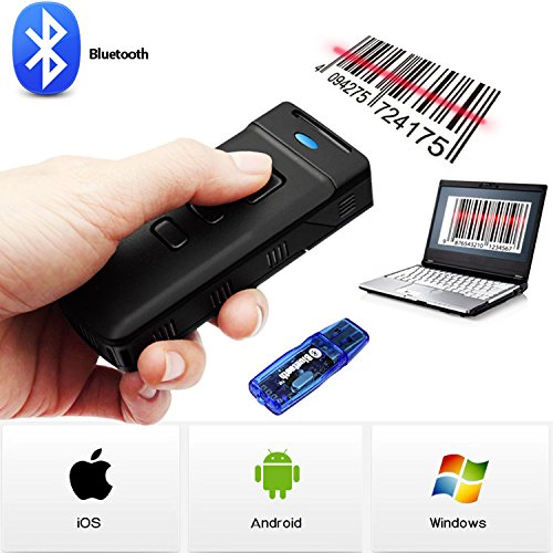 Honey Bear Bluetooth Barcode Scanner wireless Handscanner + BT Adapter für Android / IOS / Windows XP / 7 / 8
