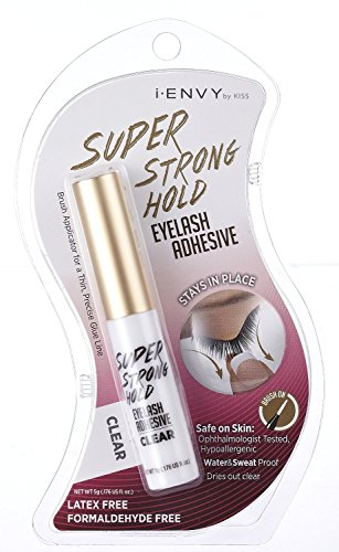 Kiss I Envy Super Strong Hold Eyelash Adhesive Latex Free [Clear] Kpeg06