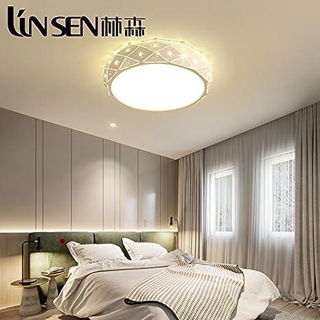 Cttsb Simple Modern Master Bedroom Light Warm Round Iron Led