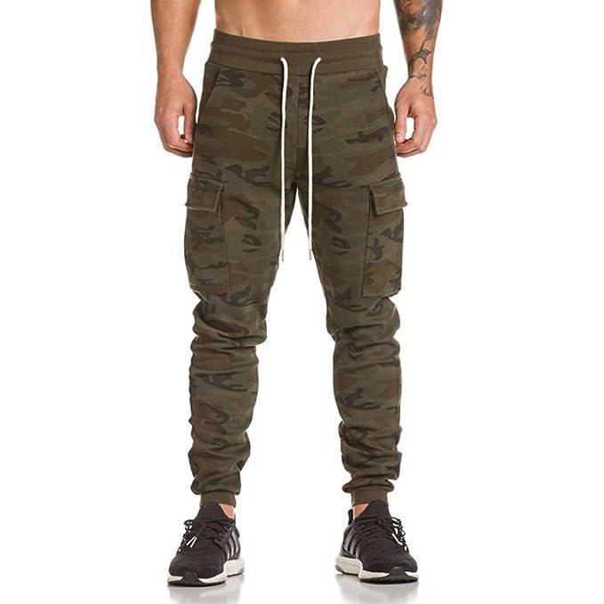 a039f4a33a Hombre Pantalón Deportivo Jogger Militar Camuflaje Estilo Urbano Pantalones  Casuales para Hombre Chándal de Hombres  Amazon.es  Ropa y accesorios