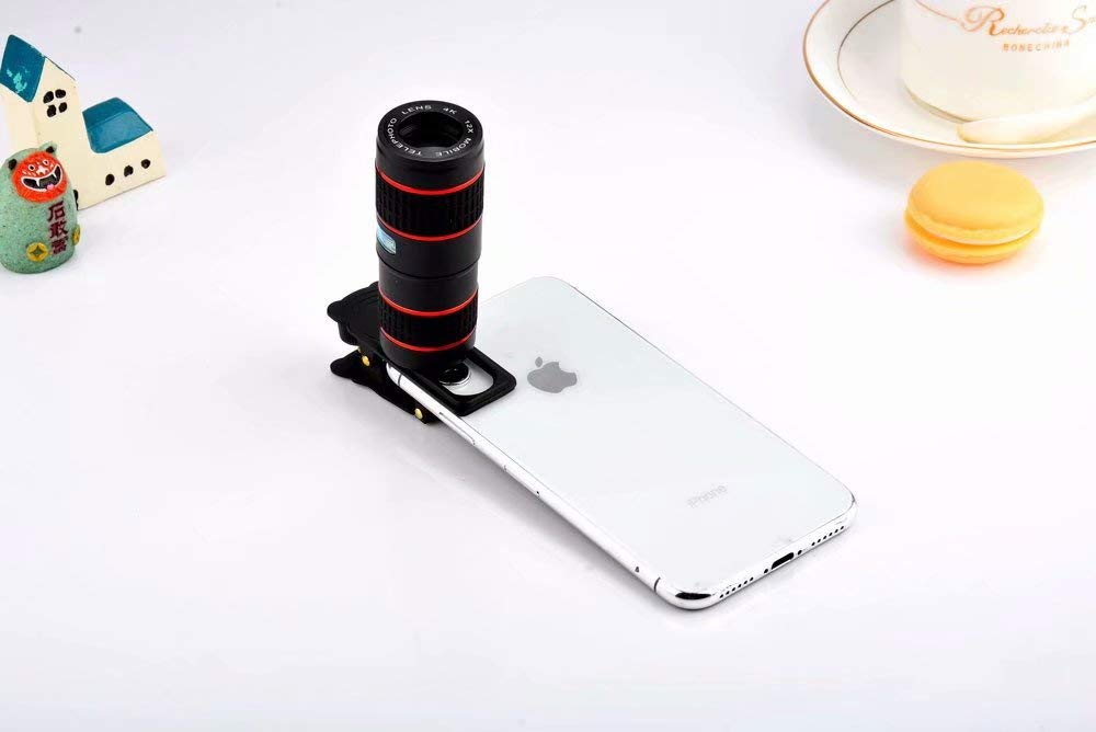 WGR HD 4K 12x Zoom Mobile Phone Telescope Lens Telephoto External ...