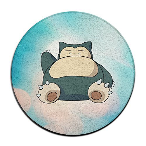 BOOMY Hog Snorlax Circular Floor Rug For Home Decorator Dining Room Bedroom Kitchen Bathroom Balcony (Kirby Toilet compare prices)