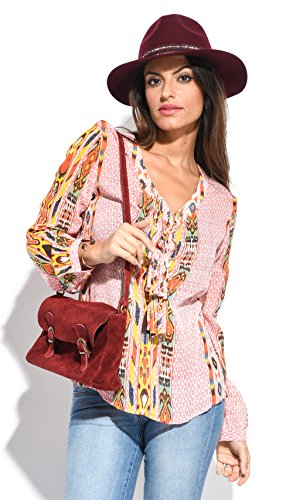 Miss June Blouse Charlotte Pink Women Spring/Summer Collection (Charlotte Blouse)