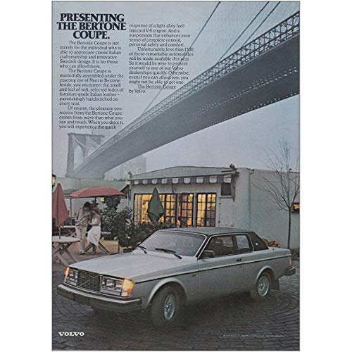 RelicPaper 1979 Volvo Bertone Coupe: Not Merely for The Individual, Volvo Print -