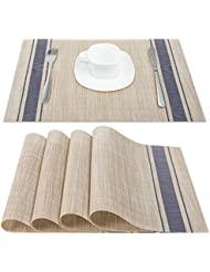 Beau Artand Placemats, Heat Resistant Placemats Stain Resistant Anti Skid  Washable PVC Table Mats