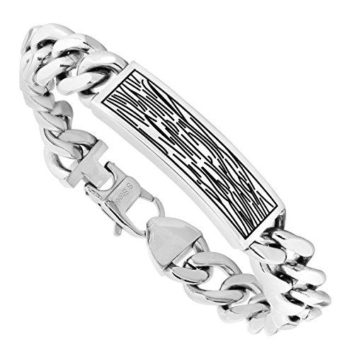 Midwest Jewelry Men's Chain Link Bracelet in Stainless Steel - TSBG1095-57608358