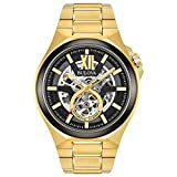 Bulova Men's Automatic-self-Wind Watch with Stainless-Steel Strap, Gold, 27 (Model: 98A178