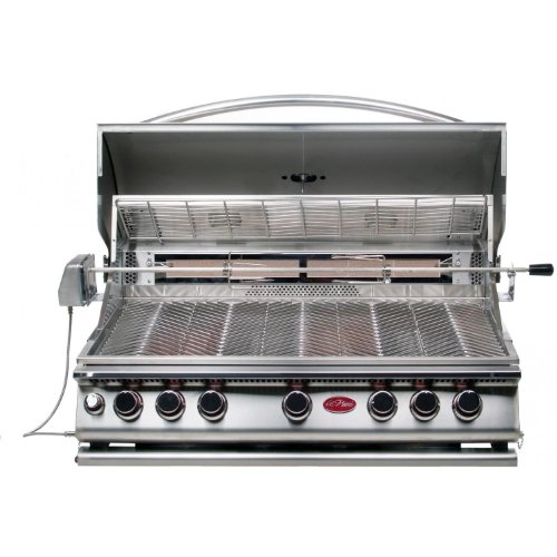 Cal Flame 5 Burner (Cal Flame BBQ15875CP 5-Burner Built-In Stainless Steel Propane Gas Convection Grill with infrared Rotisserie)