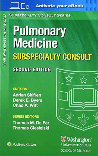 The Washington Manual Pulmonary Medicine Subspecialty Consult  The Washington Manual  Subspecialty Consult Series
