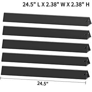 "X Home 7539(24.5 inch) Replacement Flavorizer Bars for Weber Genesis 300 Series S-310 S-320 E-310 E-320 EP310 EP320 (with Side Control Knobs), Set of 5 Porcelain Steel 24.5"" Flavor Bars 7540"