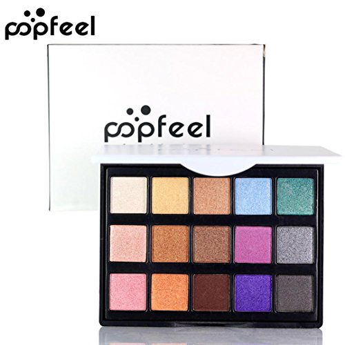 Discount AMA(TM) 15 Colors Shimmer Matte Eye Shadow Palette Cosmetic Eyeshadow Cream Makeup Set (B)