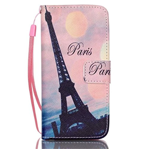 iPhone 6S Plus Case,Love Sound [Paris] [Wallet Function] [Stand Feature] Magnetic Snap Case Wallet Premium Wallet Case Flip Case Cover for iPhone 6S Plus/iPhone 6 Plus with Hand Strap