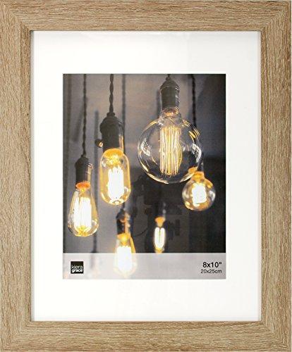 kieragrace Kiera Grace Loft Picture Frame, 11 by 14 Matted for 8 by 10-Inch, Driftwood Grey, 11x14 8x10