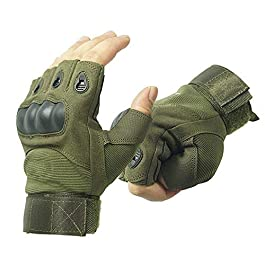 KeepCart Tactical Half Finger Gloves for Sports, Hiking, Cycling, Travelling, Camping, Outdoor