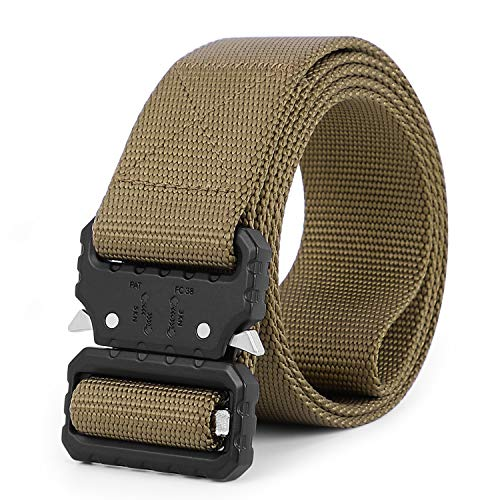 Tactical Nylon Belt Military Style Webbing Riggers Carry Belt Heavy-Duty Buckle Quick-Release