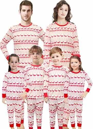 Christmas Family Matching Pajamas Set Santa's Deer Sleepwear for The Family Boys and Girls
