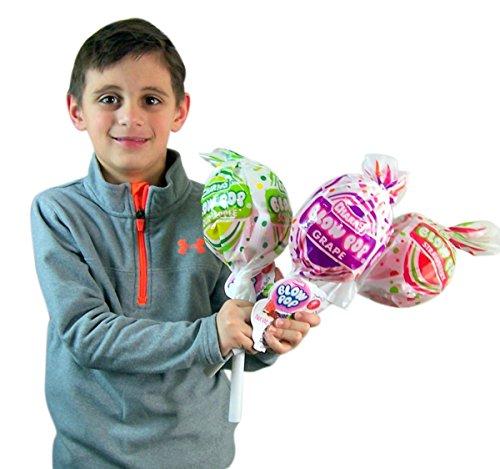 Charms Giant Blow Pops Lollipop Container with Assorted Flavor Lollipop Suckers, 5 oz, ()