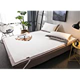 BEIRU Solid color ice silk soft seat three-piece collapsible washed double air-conditioned seat summer mat ZXCV (Color : White, Size : 150200cm)
