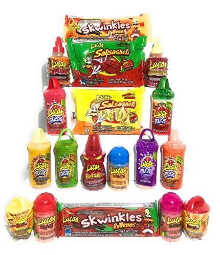 Lucas Ultimate Candy Assortment Premium Mexican Candy (18 Count) Spicy, Sweet and Sour Candy All In One Bundle. Dulces Mexicanos Makes Perfect Gift For Everyone. Variety Pack Delicious (Candy Mexican Variety)