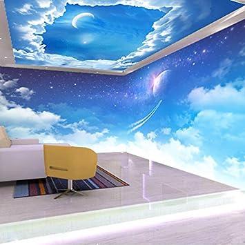 3D - Decke Tapeten Blauer Himmel Weiße Wolken Decke Restaurant Hotel ...