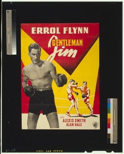 Photo: Gentleman Jim, Errol Flynn, Motion Picture Poster, 1946