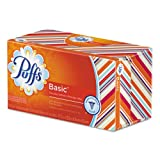 Puffs White Facial Tissue, 1-Ply, 180 Sheets - 24 boxes of 180 sheets each.