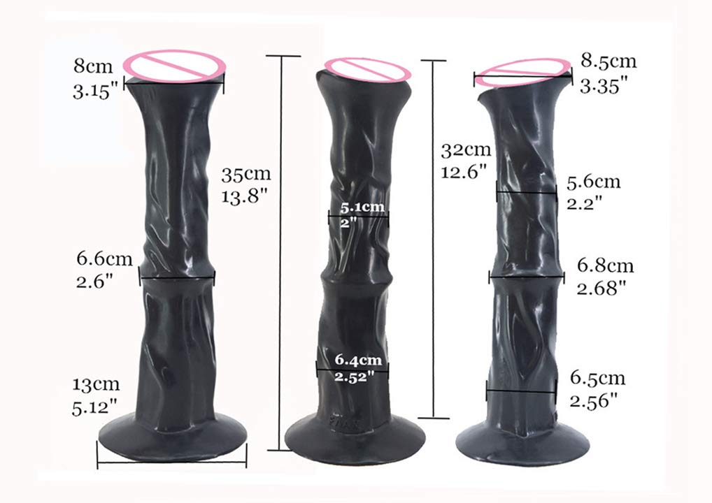 Huge Ultra-Real Feeling and Vision Double Density Flexible Women Men Silicone Stick