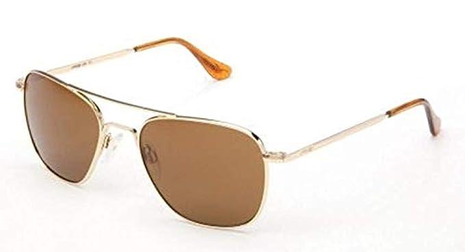 abfaff2d3c8 Randolph Aviator Skull Temple Sunglasses - Glass Lenses - 23K Gold Plated  Frame   Grey 52mm