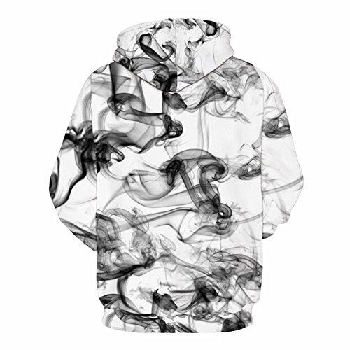 New Stylish 3d Sweatshirts Print Watercolor Dreamy Smoke Lines Thin Style Autumn Winter Hooded Hoodies