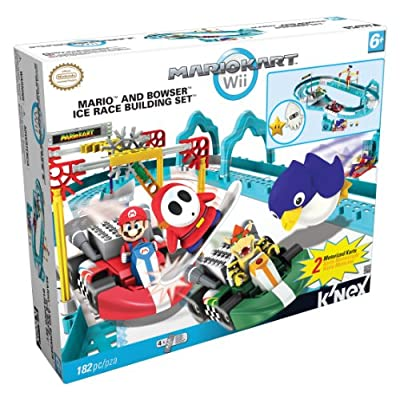 Nintendo Mario and Bowsers Ice Race Building Set, 182 Piece: Toys & Games