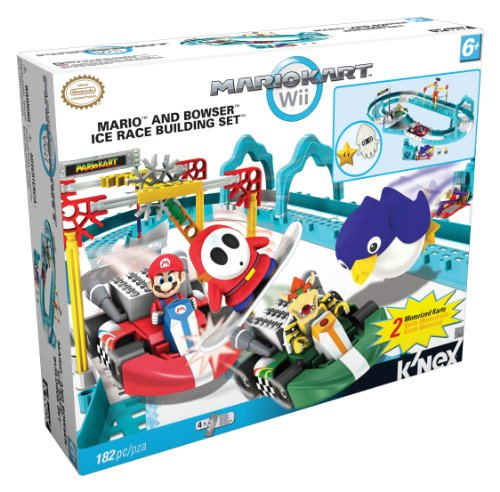 Nintendo Mario and Bowsers Ice Race Building Set, 182 - Race Car Knex