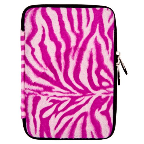 Vangoddy Hard Faux Fur Cube Nylon Carrying Case Fits Most...