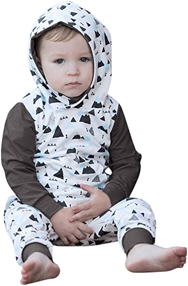 Toddler Baby Boys Girls Fall Winter Outfits Clothes Hoodie Tops+Pants 2PCS Set