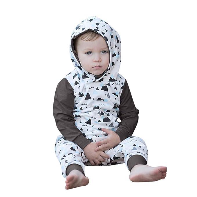 Sudadera con Capucha Bebés, LANSKIRT Recién Nacido Bebé Niña Niño Sudadera con Capucha de Dibujos Animados Camiseta Tops Pants Conjunto de Trajes Ropa: ...