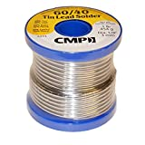 "CMP Solder WSP604012501 60/40 Tin/Lead Premium Solder for Stained Glass, 1 Pound Spool, 1/8"" Diameter"