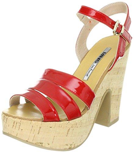MANAS capri - Sandalias de vestir de charol para mujer Rojo Rosso Rojo - Rosso