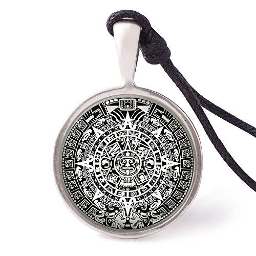 Vietsbay's Mayan Calendar Necklace Pendants Pewter Silver