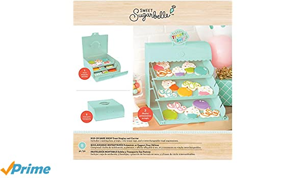 Amazon.com: Sweet Sugarbelle 8 Piece Pop-up Bake Shop Display Mint Cookie Supplies