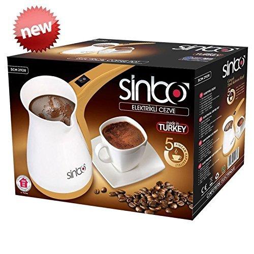 Sinbo SCM 2928 Greek Turkish Coffee Maker Prime mover Electric Pot Briki Ibrik 220V