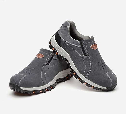 YXWa Botas para Hombres Zapatos con Punta de Acero Zapatos Anti-Smash Zapatos de Seguridad Zapatos de Trabajo Seguro Zapatos de Trabajo de Cuero para Hombres Zapatos Anti-Piercing (Tamaño : 35): Amazon.es: Hogar