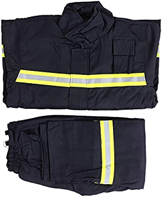 4256da4e298 KKmoon Clothes for Fire Fighting  Flame Retardant Clothing Fire Resistant  Clothes Fireproof Waterproof Heatproof Fire Fighting Equipment  Protection  Safety ...