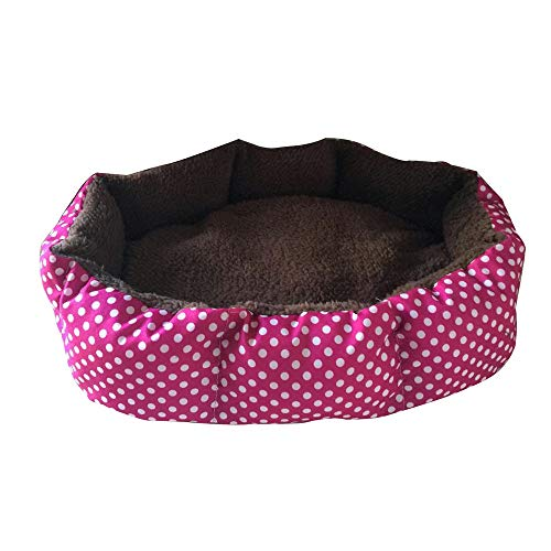 Price comparison product image Big Soft Fleece Pet Dog Cat Warm Bed House Plush Cozy Nest Mat Pad Dog Cave,  Cat Kennel,  Warm Puppy Nest Mat Cat Winter House Cat Squirrel House Pet Supply (Red)