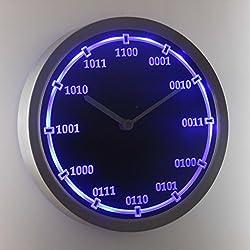 nc0714-b Binary Index Neon Sign LED Wall Clock