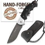 Pocket Knife for Men and Women – Knife Folding - D2 Steel - Hornbeam Handle - EAGLE - Leather Sheath